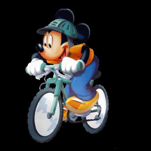 Disney Mickey Mouse On Racing Bike Mickey Mouse Pictures Mickey Mouse Mickey Mouse And Friends