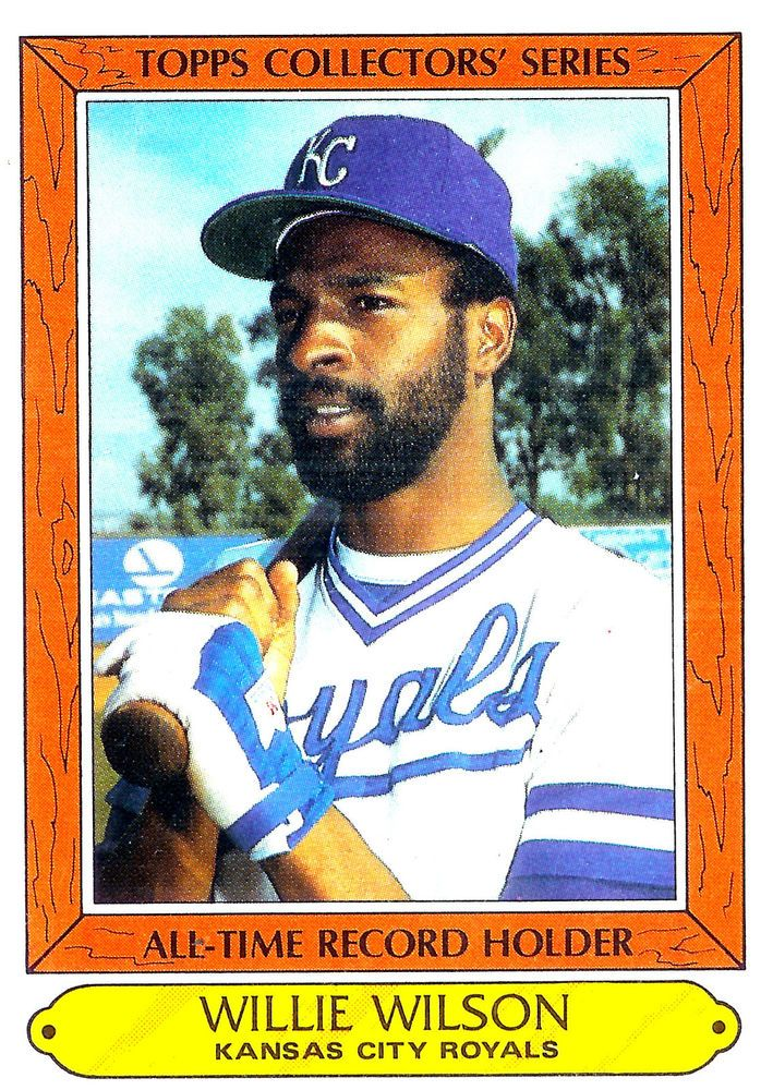 1985 Topps #42  Willie Wilson  Kansas City Royals Collector's Choice Card - MINT #KansasCityRoyals