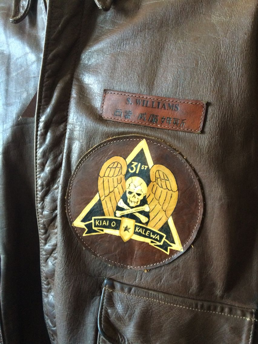 Hand painted 31st bomb squadron leather patch and hand