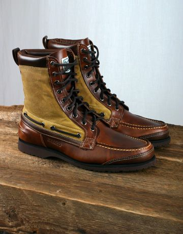 f7afbaf37f7391 SEBAGO - FILSON X SEBAGO OSMORE BOOT - DARK BROWN LEATHER AND WAX ...