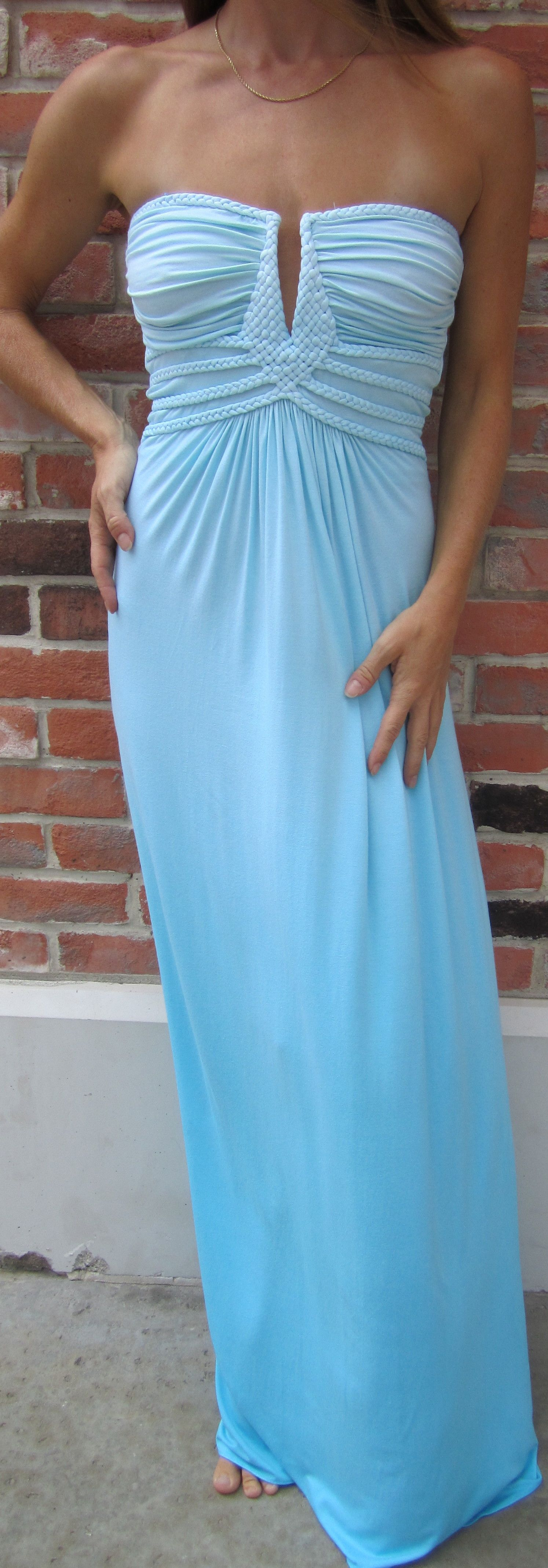 Carolina Blue Strapless Maxi Dress Fancy Dresses Perfect Dress Fashion [ 4274 x 1494 Pixel ]