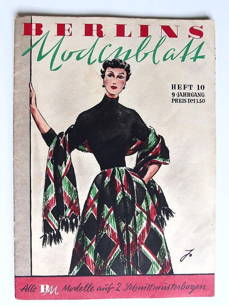 Berlin´s Modeblatt Heft 10 mit Schnittmuster 50er Jahre   Das ...