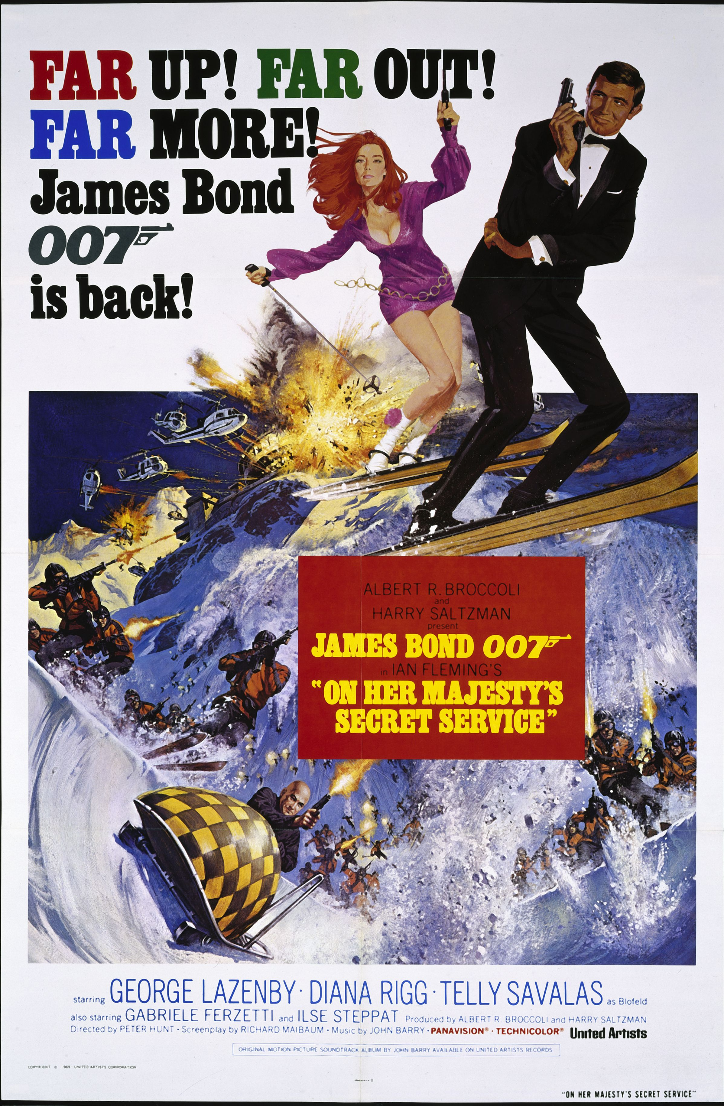 On Her Majesty S Secret Service James Bond Movie Posters James