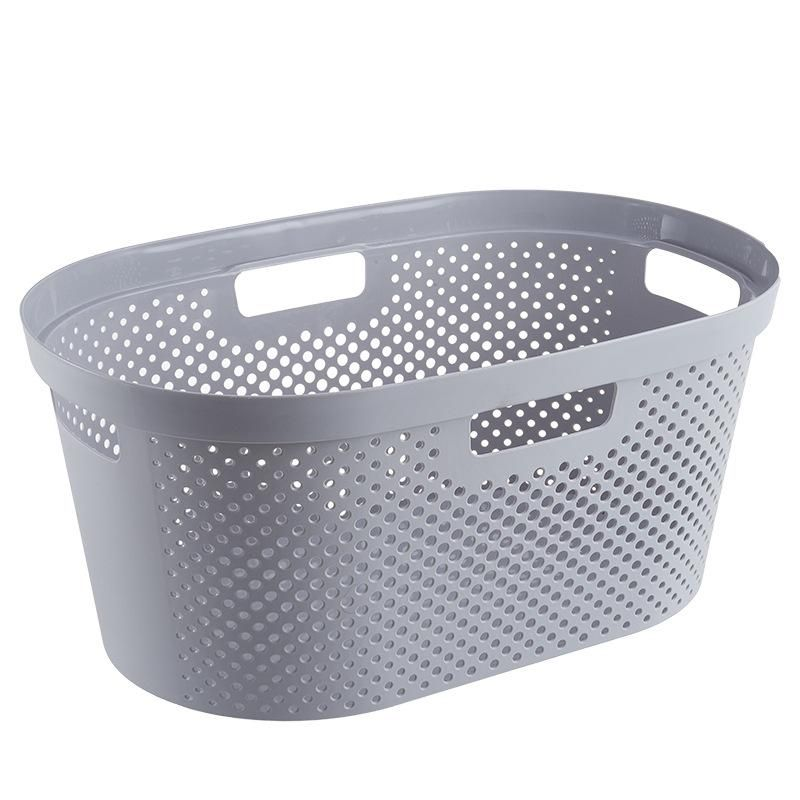 Big Plastic Laundry Basket With 4 Handles And Airhole For Closet Or Bathroom With Images Clothes Closet Organization