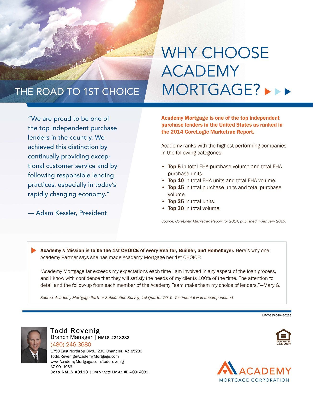 Why Choose Academy Mortgage Academy Achievement Mortgage