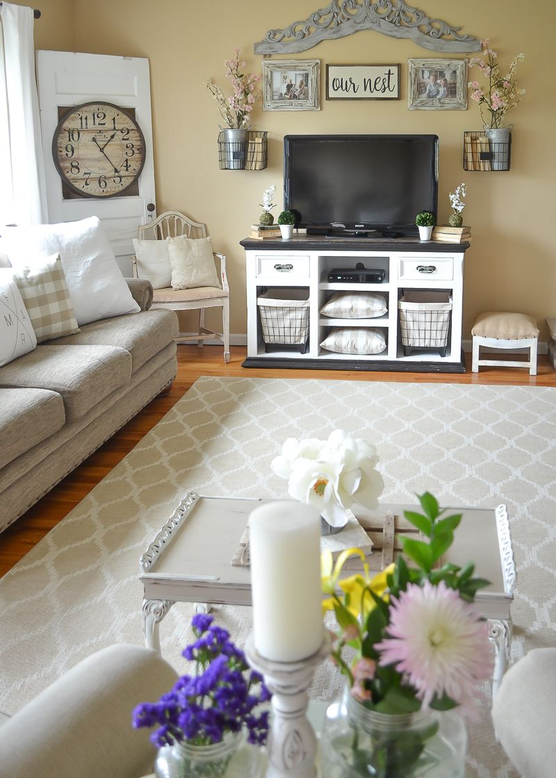 Simple Spring Living Room Farmhouse Style Spring Decor Ideas Spring Living Room Farm House Living Room Farmhouse Decor Living Room