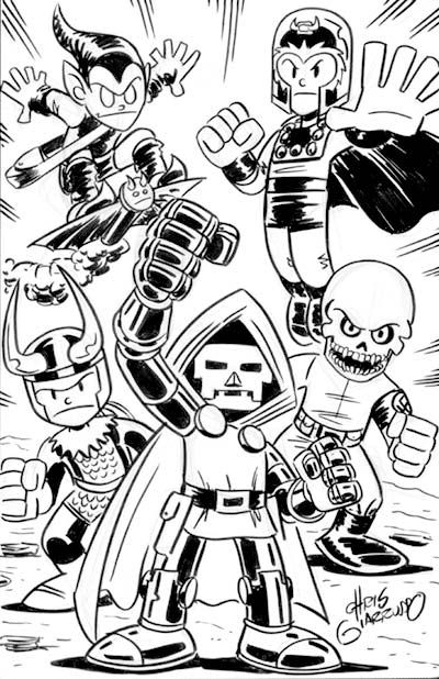 In Order The Green Goblin Magneto Loki Doctor Doom And Red Skull Just Add Doc Ock And Vvenom And You Have All M Marvel Coloring Marvel Villains Comic Art