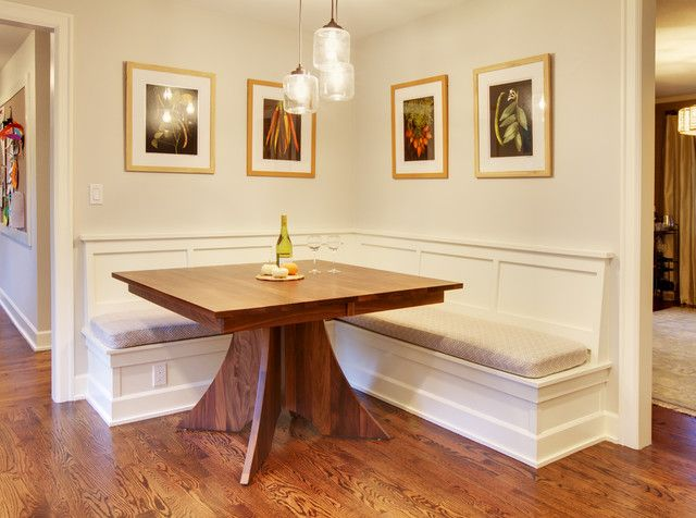 Mercer Island Dining Table W/Built In Benches   Traditional   Kitchen    Seattle   By Claddagh Construction Inc