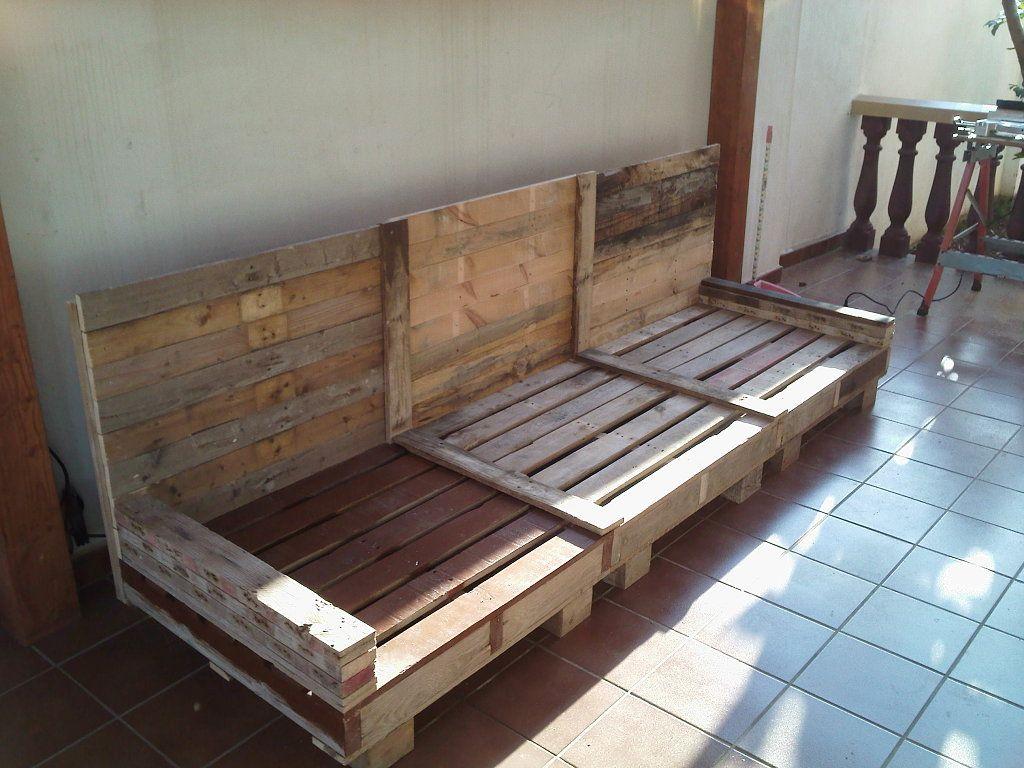 sofa exterior palets hacer bricolaje es