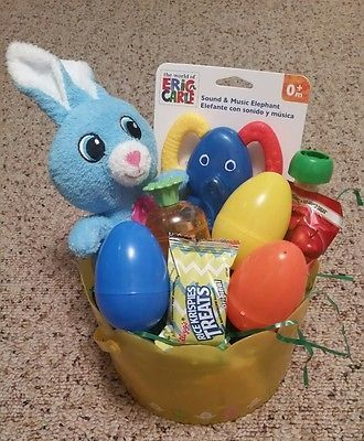 Filled easter basket for infant baby boy baby pinterest baby filled easter basket for infant baby boy negle Images