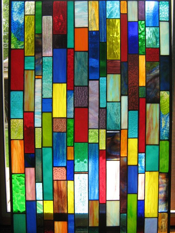 Another fun stained glass piece. Rather large, but a pretty simple concept.