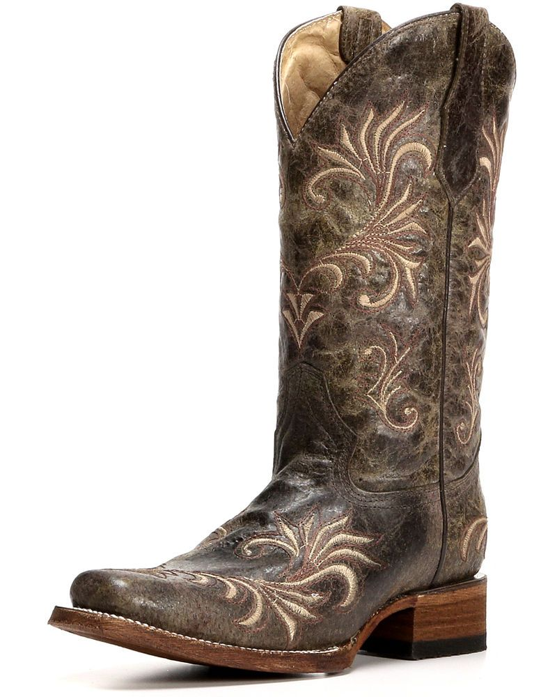 e74cc51ffbb Circle G Distressed Filigree Cowgirl Boots - Square Toe | BOOTS ...