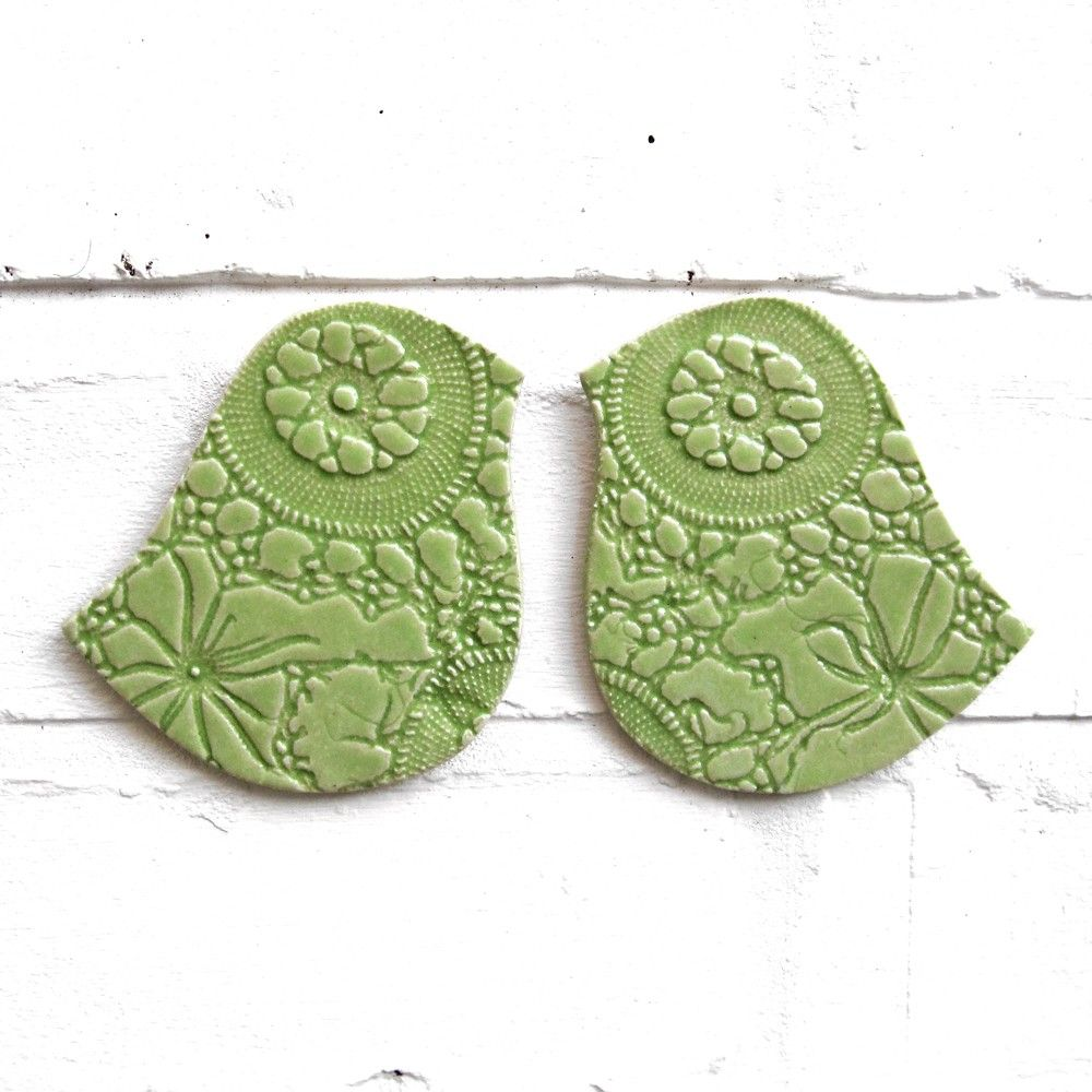 Lime Green Wall Decor ceramic wall art birds of a feather lime green stoneware pottery