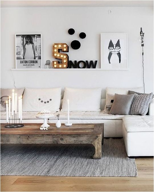 Wood floors and coffee table