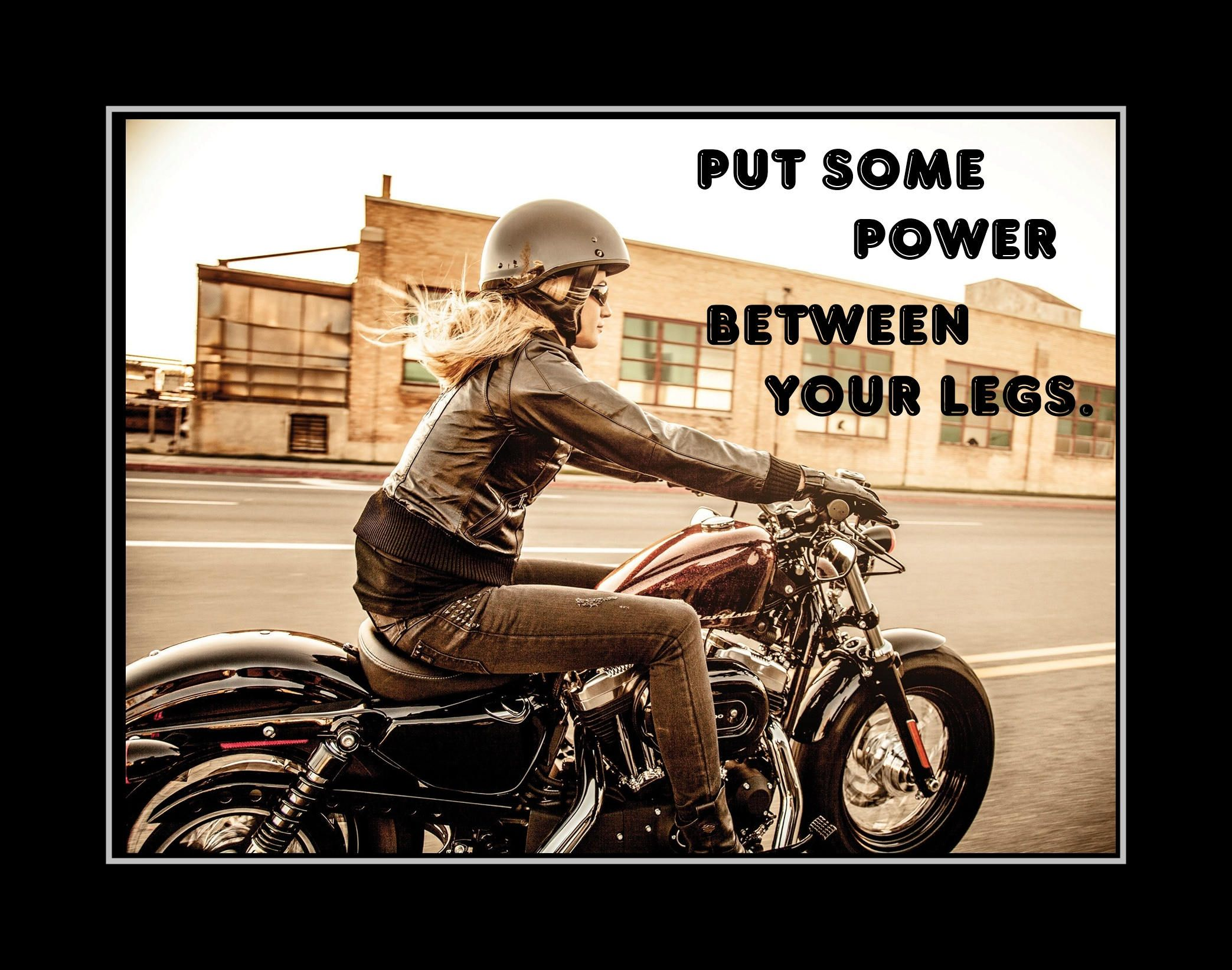 Funny motorcycle women poster feminist photo quote wall art gift