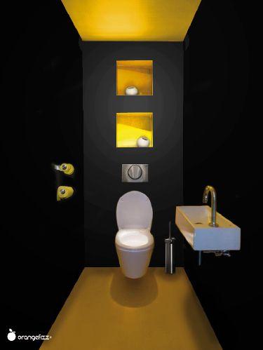 Projets orangefizz le petit coin wc pinterest - Idee couleur toilette ...