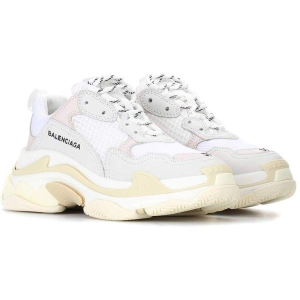 pretty nice b5e46 ba870 Balenciaga Triple S sneakers ( 675) ❤ liked on Polyvore featuring shoes,  sneakers, balenciaga sneakers, balenciaga trainers, balenciaga shoes and ...