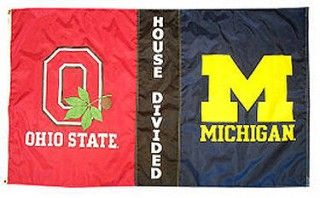 House Divided Flag Michigan Vs Ohio State Ohio State Michigan Rivalry Ohio Vs Michigan Ohio State Michigan