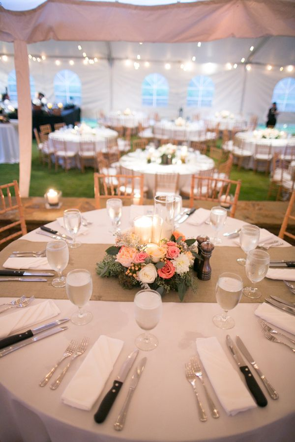 how to decorate wedding reception tables and pink floral and burlap reception decor krista 4923