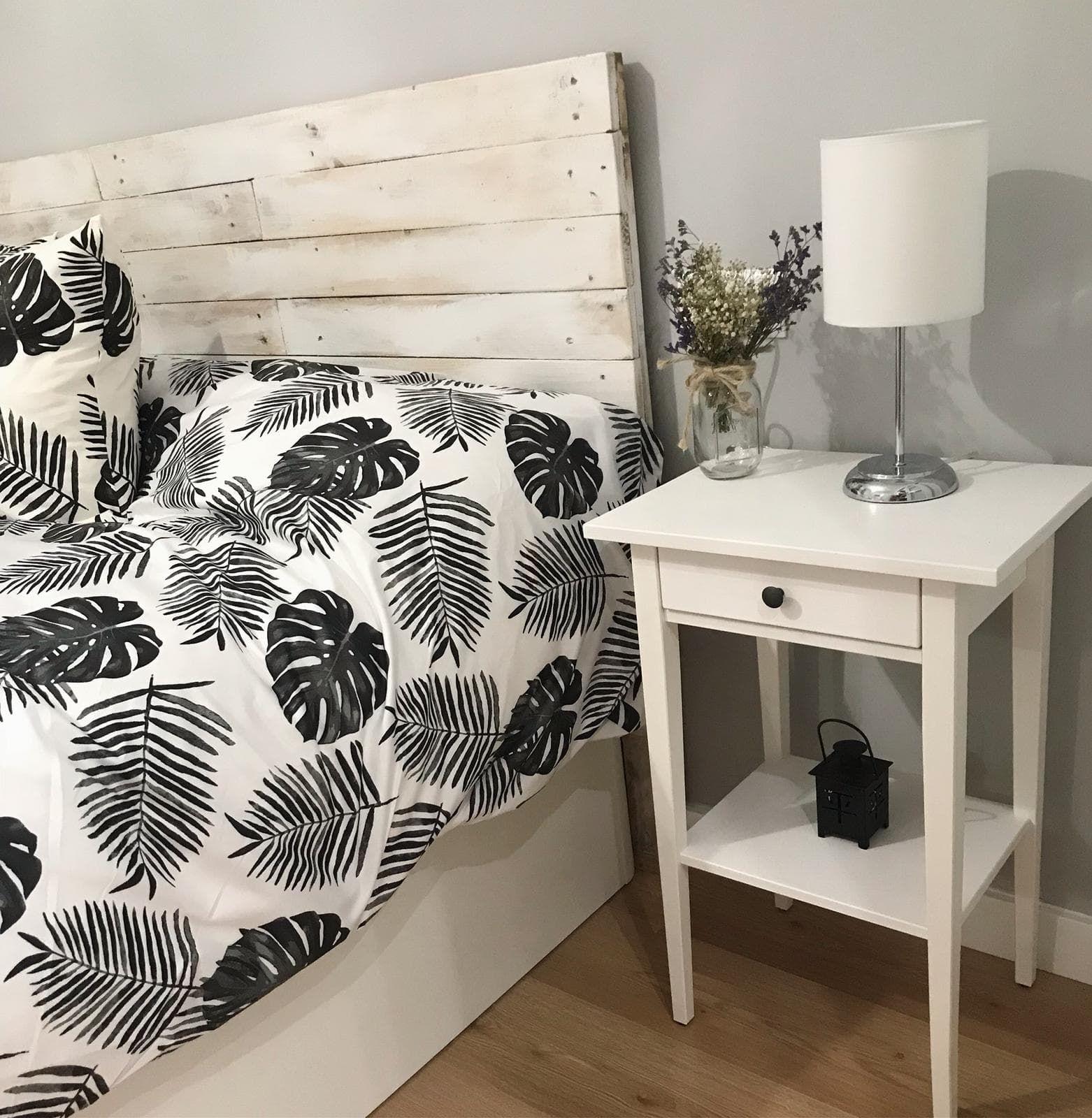 Un cabecero con palets sencillo para un precioso dormitorio home
