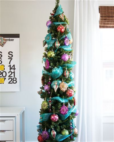 If your home is short on space, then make our No. 2 Pencil Christmas Tree  number 1 on your shopping list. #PencilTree - No. 2 Pencil Christmas Tree Gorgeous GREEN Pencil Christmas Tree
