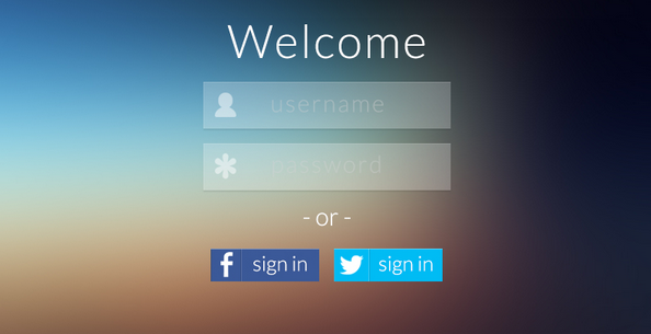 Transparent Flat Login Screen By Rich Smith