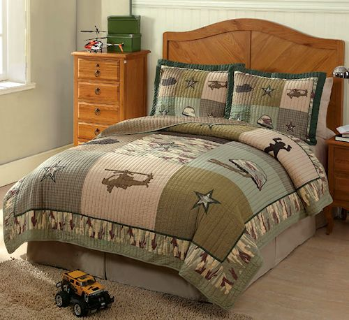 Green Camouflage Bedding Twin 2pc Quilt Set Military Helicopter Bedspread For Boys Army Bedroom Bedding Sets Rosenberry Rooms