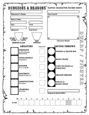 basic dungeons and dragons character sheet character sheets | character sheet, dnd character sheet, rpg