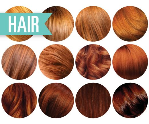 natural red hair color chart - Google Search