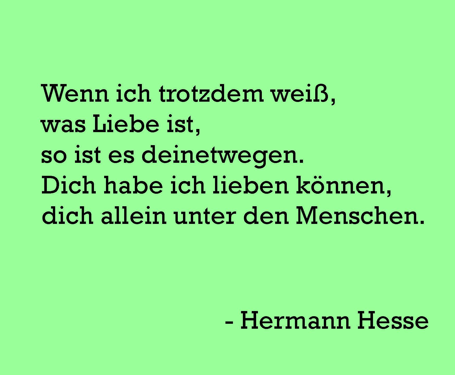 Hermann hesse gedicht liebe