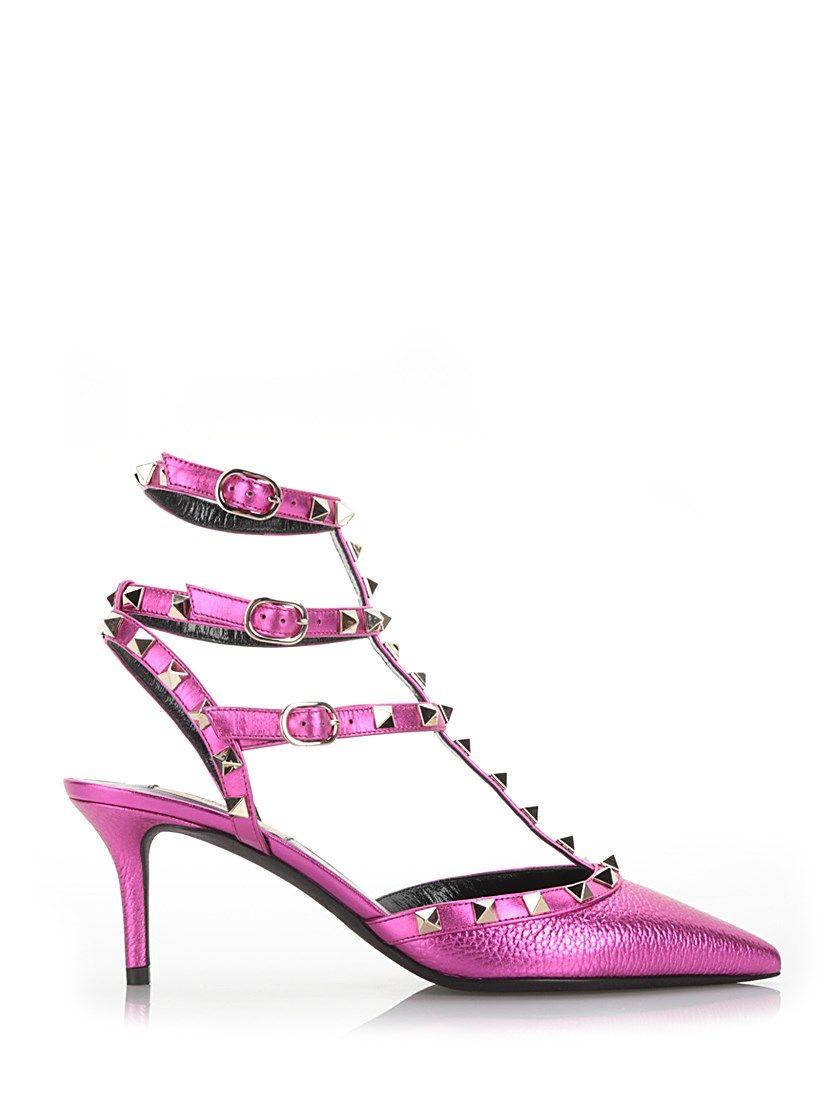 e15d011d953 valentino+garavani+Metallic+fucsia+ Rockstud +pumps+Pink