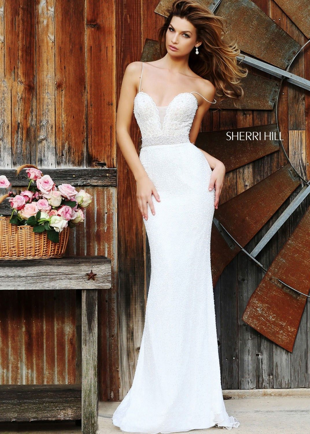 Sherri Hill Fitted Ivory Dress 11260 - In the red