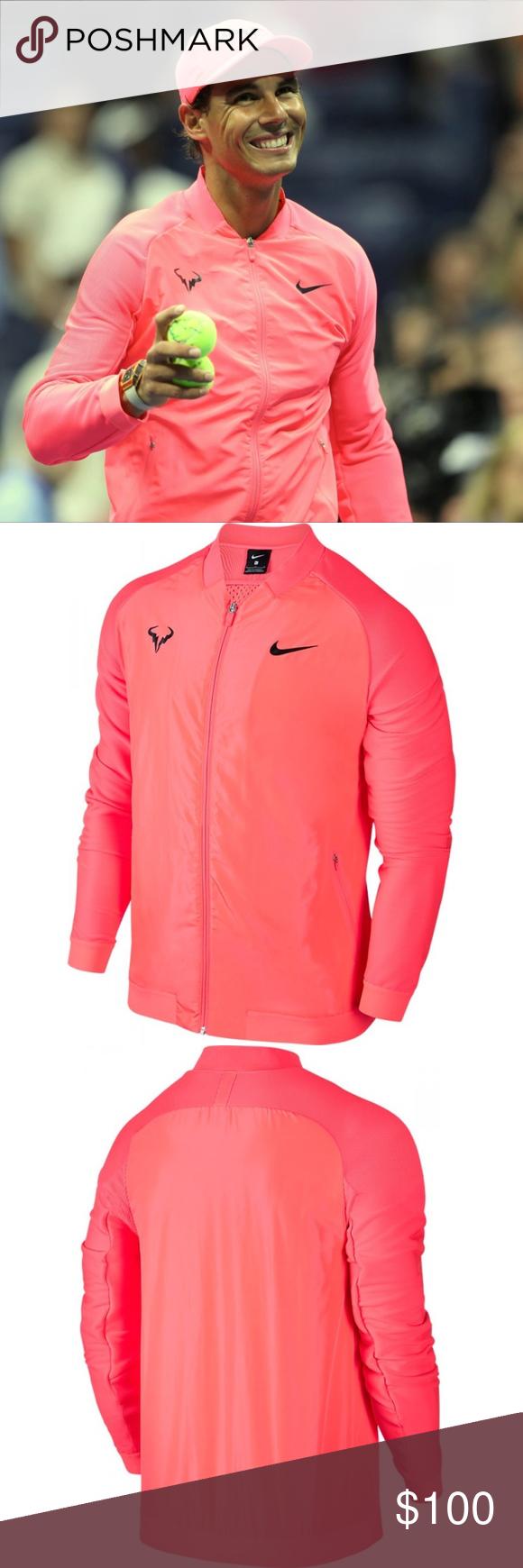 Nike Court Rafa Nadal Tennis Jacket Hot Punch Clothes Design Jackets Fashion