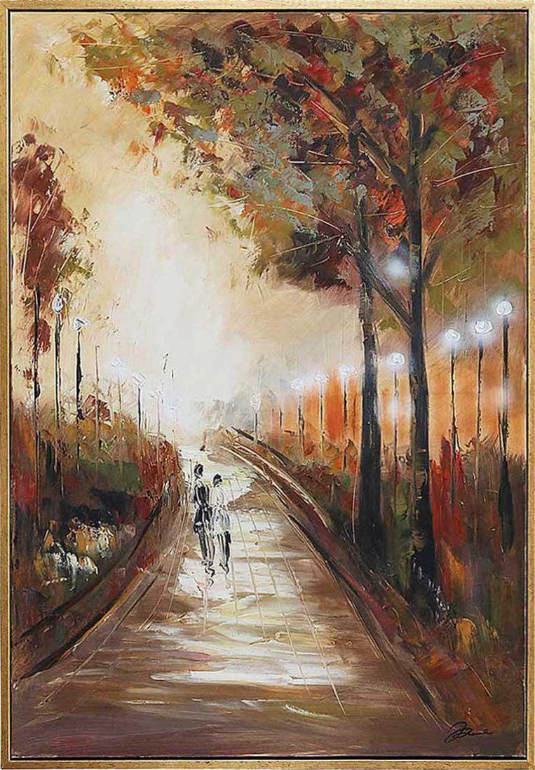 Ölgemälde Spaziergang Paar Liebespaar Gemälde Moderne 124cm