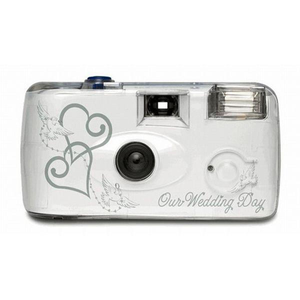 Wedding Theme Disposable Camera Double Silver Hearts Wedding Camera Wedding Ring Box Ring Box Wedding Rustic