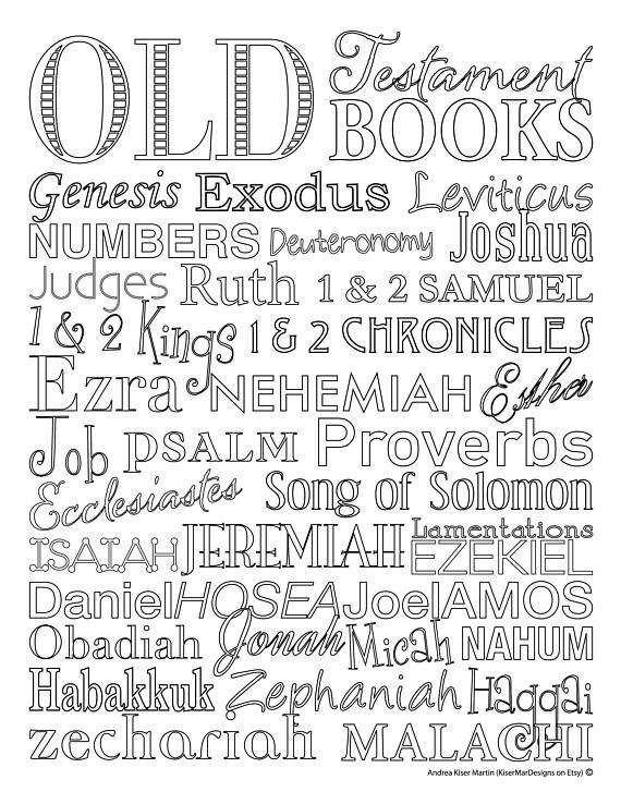 Old Testament Books Of The Bible Memory Coloring Sheet Books Of The Bible Bible Coloring Pages Bible Coloring