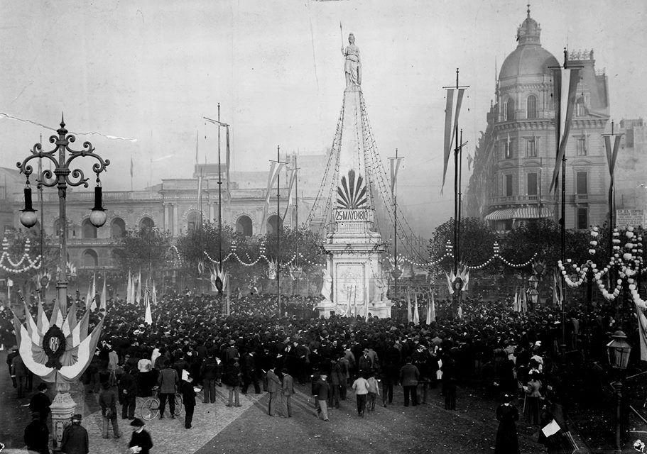 Fiestas Mayas en Plaza de Mayo, 1899. Documento fotográfico. Inventario 9441.