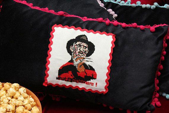 Freddy Krueger Cross Stitch Pattern, Nightmare on Elm Street Sewing