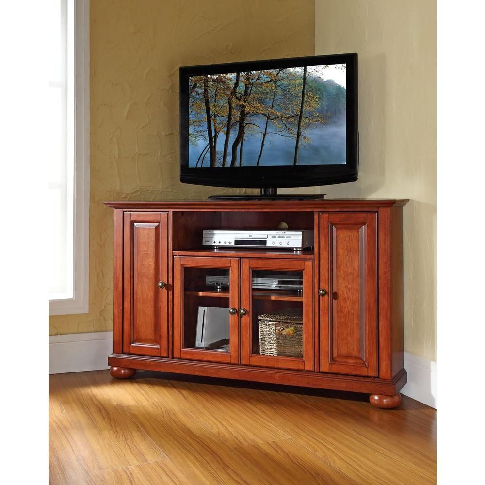 alexandria cherry (red) entertainment center  cherries tv stands  - alexandria cherry (red) entertainment center