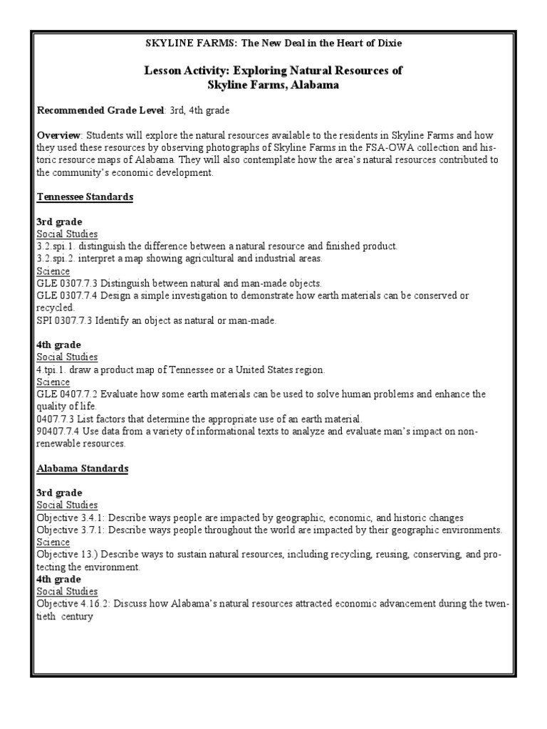 Natural Resources Worksheets 3rd Grade Exploring the Natural Resources…    Third grade science worksheets [ 1024 x 768 Pixel ]