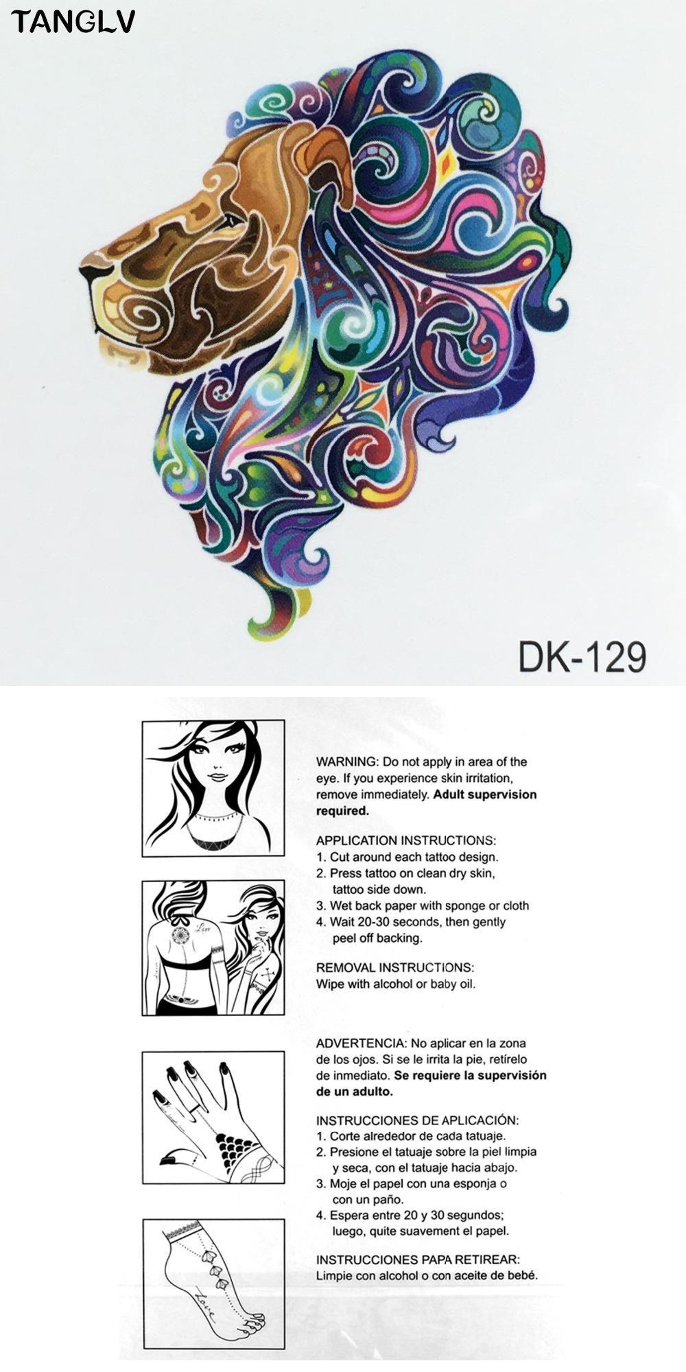 766f2956b [Visit to Buy] Hot Constellation Fake Waterproof Tattoo Flash Sexy Body Art  Arm Tattoo