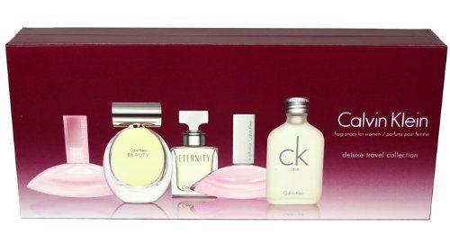 e6f8e1ddf5 Calvin Klein Deluxe 5 Piece Miniature Perfume Gift Set For Women $45.20