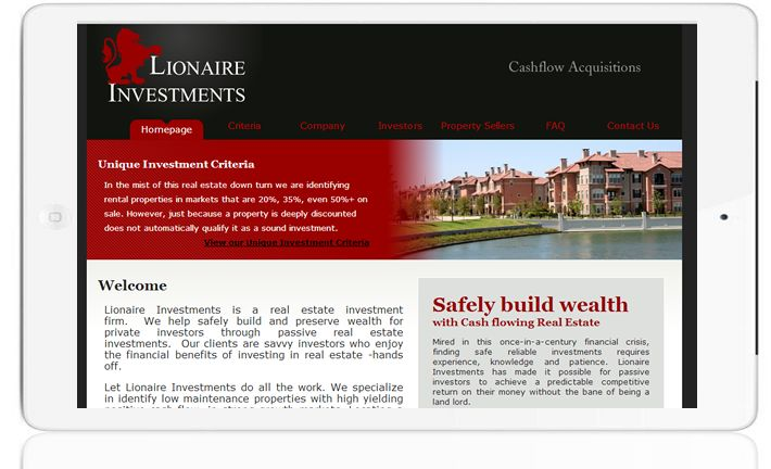 Lionaire Investments - http://www.greatercreators.com/portfolio/lionaire-investments/