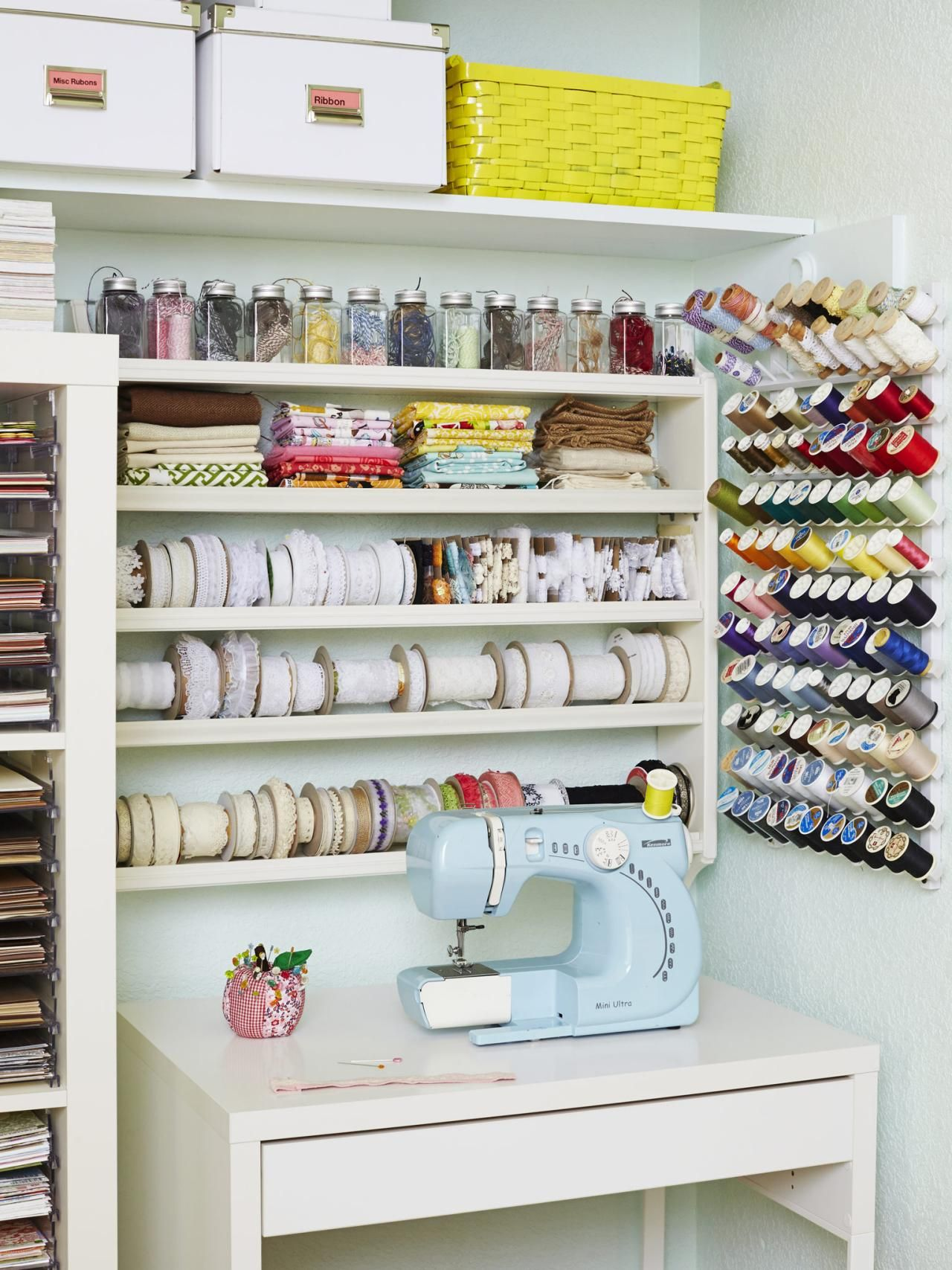 12 Creative Craft Or Sewing Room Storage Solutions | Craft Projects   DIY  Kids Crafts,