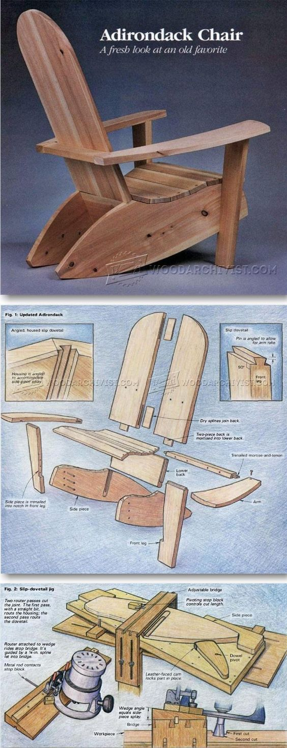Build adirondack chairs outdoor furniture plans u projects