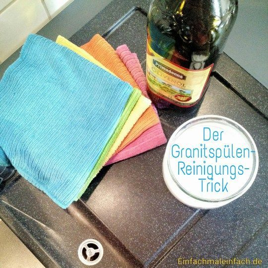 DIY Granitspüle Fleckenfrei Reinigen