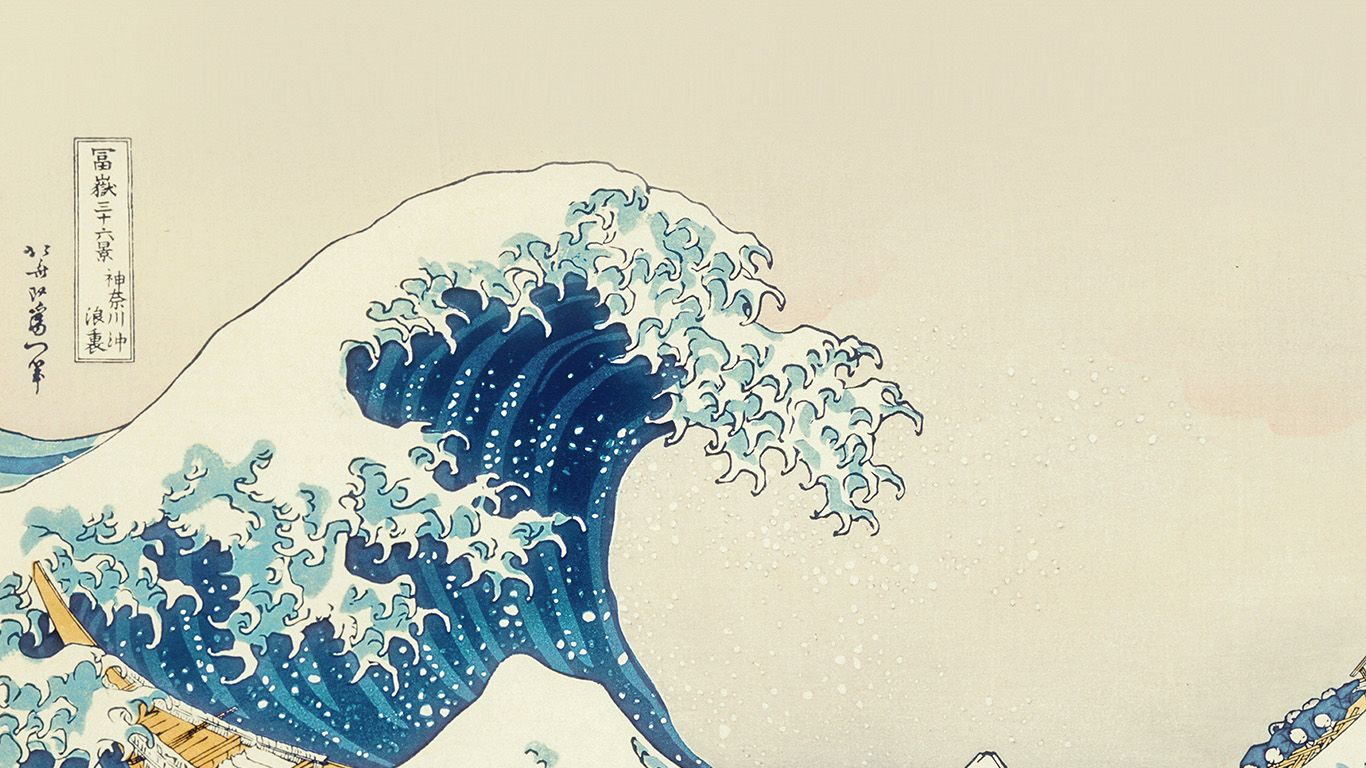 An25 Wave Art Hokusai Japanese Paint Illust Classic Papers Co Desktop Wallpaper Art Anime Wallpaper Wallpaper Pc