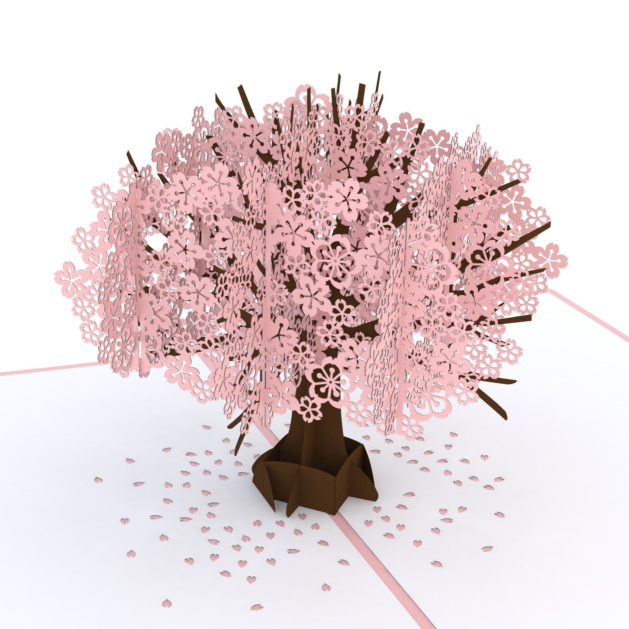 Cherry Blossom Classic Pop Up Flower Cards Paper Flowers Flower Cards