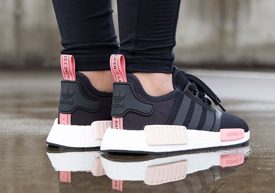 nmd adidas pink and black