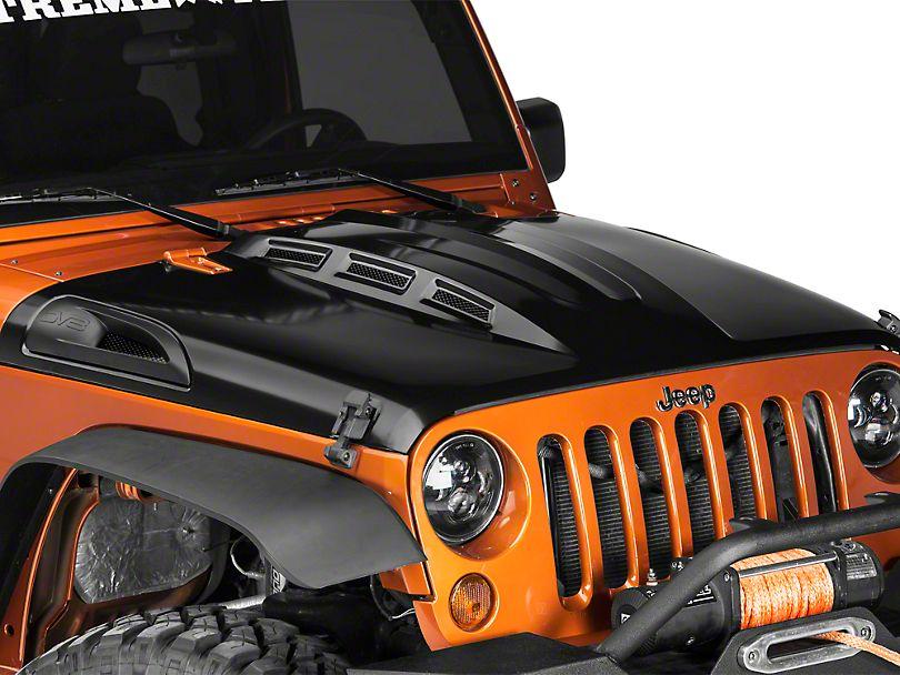 DV8 Offroad |Jeep Wrangler Hood Isolators 2007-2018 Jeep Wrangler JK Jeep Wrangler Exterior Accessory D-JP-190022